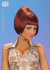Burgundy Beehive Bob Wig 70'S Austin Powers Disco Fancy Dress