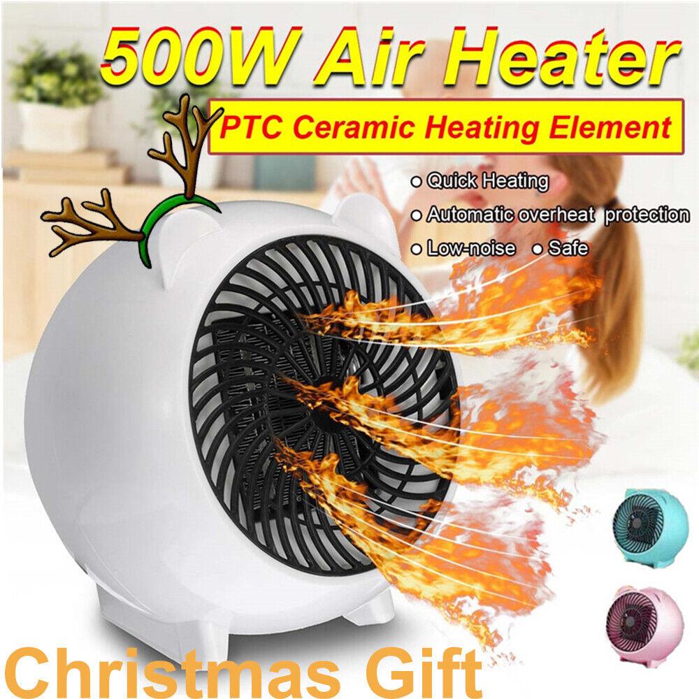500W Electric Warm Heating Space Fan Heater Mini Winter Air