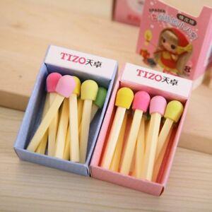 Awarding-8-Pcs-Set-Novelty-Cute-Pencil-Gift-Eraser-Stationery-Rubber-Match