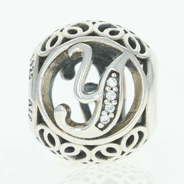Genuine Authentic Pandora Charm Letter Y  791869cz P
