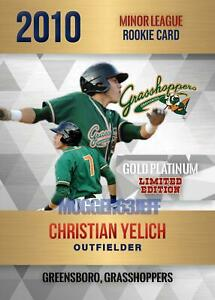 2010-ROOKIE-GOLD-PLATINUM-CHRISTIAN-YELICH-GREESBORO-VERY-FIRST-MINOR-LEAGUE-RC