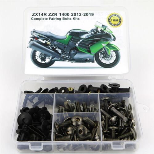 Complete Fairing Body Bolts Kit For Kawasaki ZX14R ZZR 1400 2012-2019 Titanium