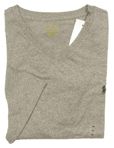 Polo Ralph Lauren Big /& Tall Men/'s Grey Classic Fit V-Neck Short Sleeve Shirt