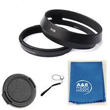 X100B 49mm Metal Filter Adapter Ring Lens Hood Set for Fujifilm X100S X100 + Cap