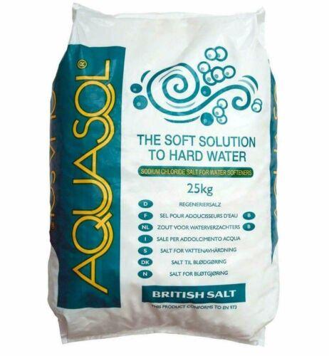 5 Pack Aquasol Tablets Salt Water Softener /& Purifier Dishwasher Briquettes 25Kg