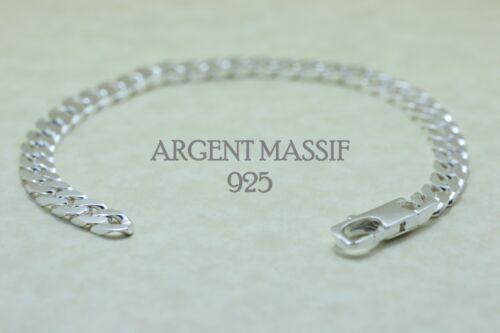 Bracelet ou chaine En Argent Massif pour homme Maille Gourmette 6mm Avec Boite
