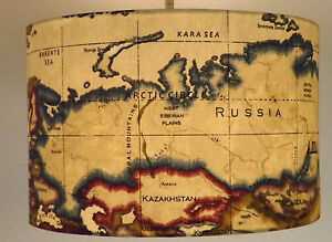 Image Is Loading 034 Atlas World Map Antique 034 Lampshade Ceiling