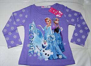BNWT-Girls-Disney-Frozen-Elsa-Princess-Tshirt-Top-Long-Sleeve