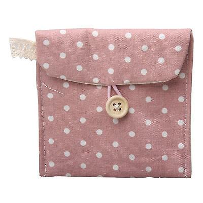 1 Square Polka Dot Sanitary Napkin Bags Pouch Purses Holder Handbag Girls Gifts