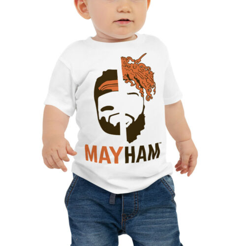 "Baker Mayfield //// Odell Beckham Jr  Cleveland Browns 2019 /""MAYHAM/"" Baby Tee"
