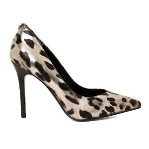 timeless design 84dfb 5d8de Dettagli su Guess Scarpe Decollete Donna in Pelle Motivo Animalier Leopard  Color Oro