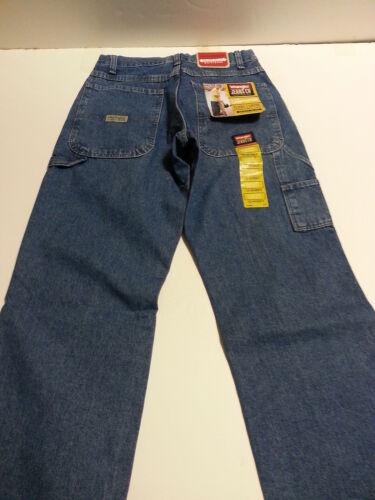 Boys Wranglers Classic Carpenters Jeans Adjustable Waist NWT Slim Reg Husky Blue