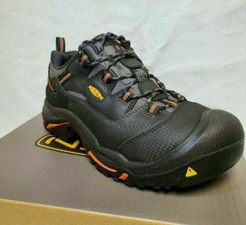 Keen Utility 1011244 Men/'s Braddock Low Steel Toe Black//Bossa Nova Work Shoes