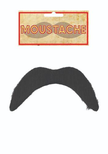 Mexican Mario Black Fake Moustache 118 Fancy Dress Accessory Disco