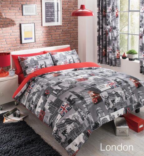 Contemporary Designer Reversible Bedding Duvet Quilt Cover Set With Pillowcases