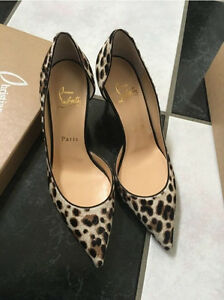 the latest 6ed9c 54549 Details about NIB 100% AUTH Christian Louboutin Iriza 70mm Pony Leopard  pumps Sz 36 $825