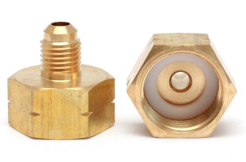 Adattatore del flacone refrigerante 1//4sae r134a r407 r404 r422 CONDIZIONATORI