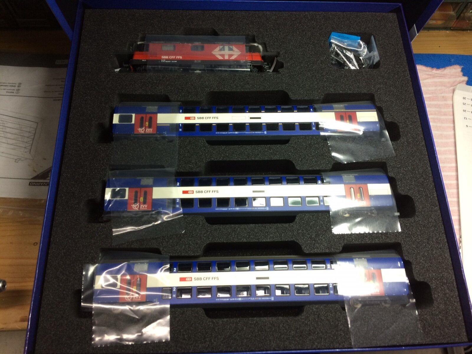 ROCO 61445 - Set   E Lok RE 420 SBB con 3 Carrozze passeggeri Digital Sound