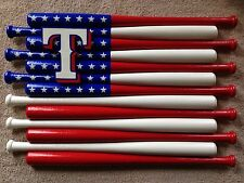 Texas Rangers Custom Baseball Bat Flag
