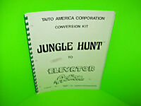 Taito JUNGLE HUNT To ELEVATOR ACTION 1983 Video Arcade Game Kit Service Manual