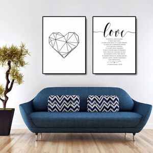 Details About Nordic Canvas Wall Painting Love Letters Picture Art Poster Home Decor New