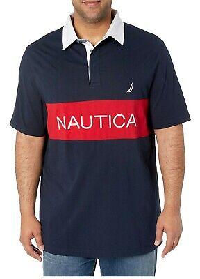 Nautica Mens Big and Tall Short Sleeve Active Color Blocked Polo Shirt