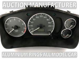 Mitsubishi-Lancer-incl-EVO-96-03-Cerclages-De-Compteur-Aluminium-Anneaux-Chrome