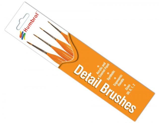 Detail Brushes Sizes 00/0/1/2 Humbro AG4301 New