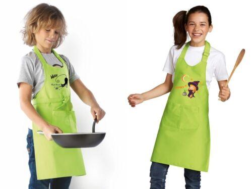Latzschürze enfants tablier kochschürze nom souhait motif cuisine tablier cuisine