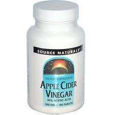 Source Naturals Apple Cider Vinegar - 180 - 500mg Tablets - Alkalize & Detox