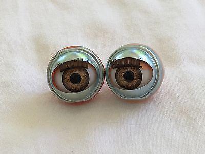 Lt Blue Doll Eyes Custom 13mm will fit American Girls bitty baby #2