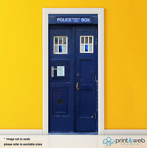 Image is loading Dr-Who-Tardis-Box-Vinyl-Door-Wrap-Decal- & Dr Who Tardis Box Vinyl Door Wrap Decal Sticker Self Adhesive Police ...