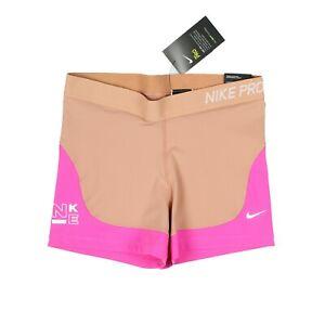 "NIKE Pro Spandex 3"" Shorts Women's sz L Large / Pink / Nude"
