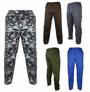 Mens-Location-Military-Inspired-Utility-Work-Pants-Camouflage-Plain-Casual-Pant