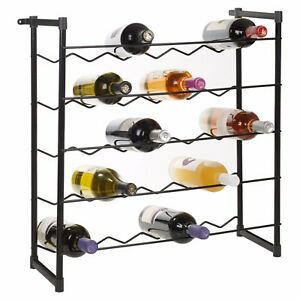 Stackable-Wine-Rack-30-or-60-Bottles-Champagne-Bar-Metal-Free-Standing-Accessory