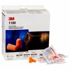 Box 200 Pairs NRR 29 Disposable Earplugs Original 3M 1100