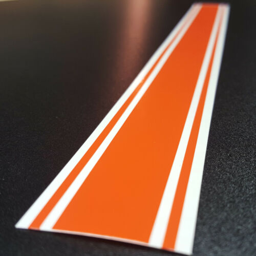 """26.25/"""" x 72/"""" Pointed Hood Vinyl Racing Stripes Decals Stickers *18 COLORS*"""