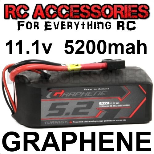 5200mah GRAFENO Lipo Batería Paquete Litio Polímero 3s 11.1v Coche RC