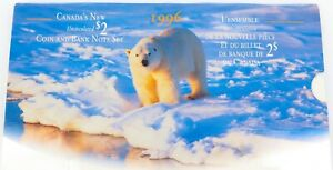 1996-CANADA-CANADIAN-UNC-2-COIN-AND-BANK-NOTE-SET