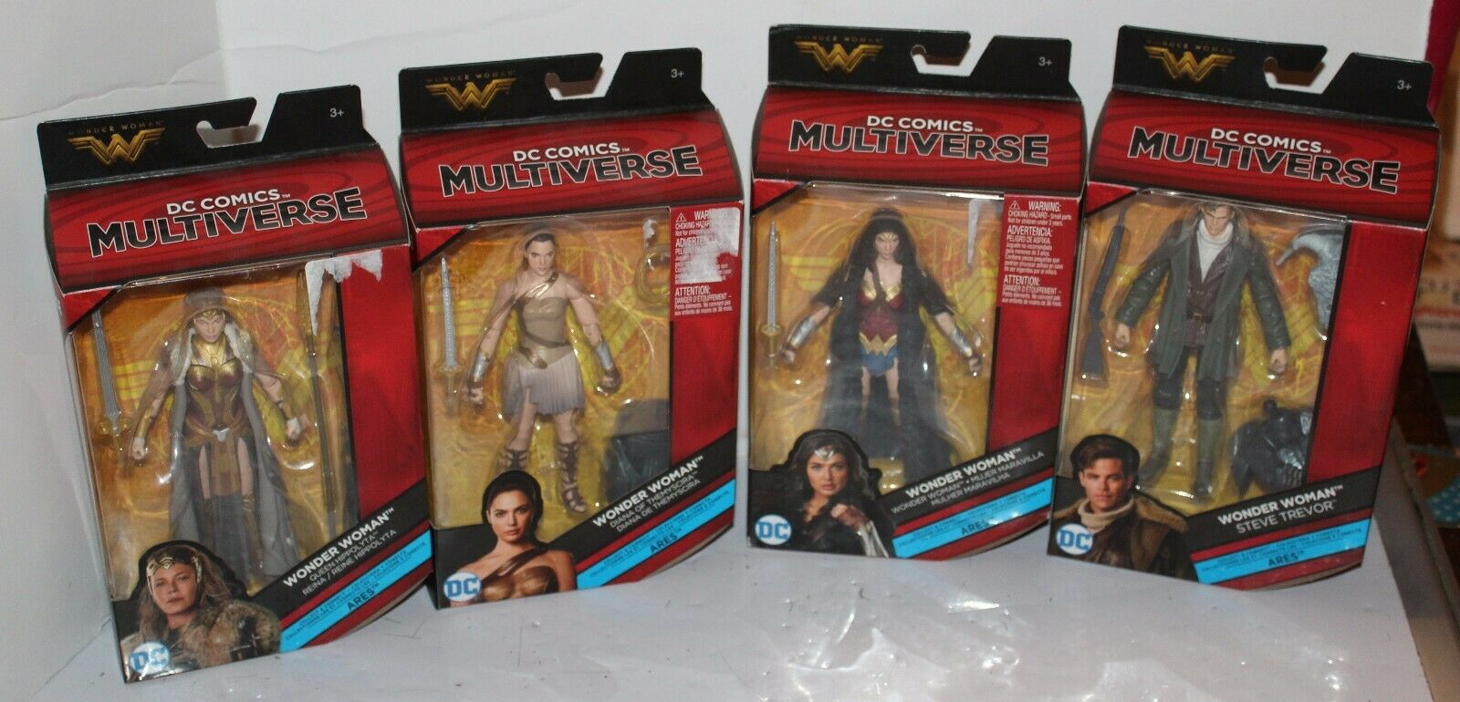 DC Comics Multiverse Ares Set of 4 with BAF Pieces - Wonder donna, ARES nuovo