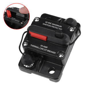 50-300A-AMP-Circuit-Breaker-Car-Marine-Stereo-Audio-Inline-Replace-Fuse-12V-24V