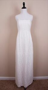 30d2717f24d J.Crew Strapless Women s Ivory Eyelash Lace Gown Size 6 Retail  995 ...