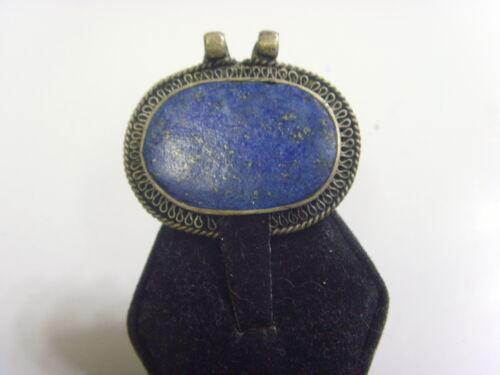 kazak tribal nomadic 1 Large Lapis Lazuli oval pendant renaissance festivl 48814