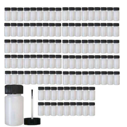 Kunststoffflasche 60leere Plastikflaschen 60ml mit Pinsel für Tupflack Autolack