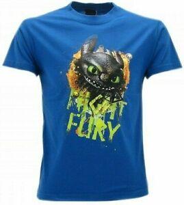 T-shirt, Maglie E Camicie T Shirt Maglietta Maniche Corte Dragons Trainer Furi Buia Sdentato Bambino Nera