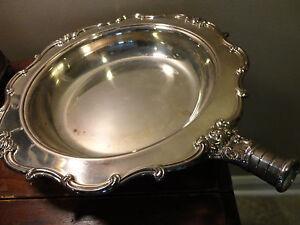 Vintage gohram Chantilly plaqué argent argentés frottement plat Pan Bowl