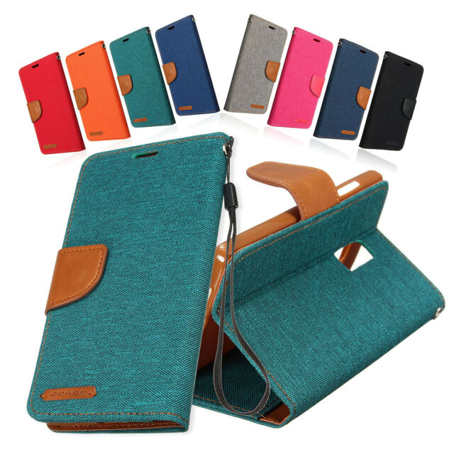Mohoo Flip Denim Leather Case TPU Cover Wallet Card Holder Stand For One Plus 2
