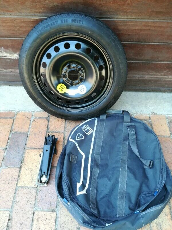 Ford Focus ST 17 inch Space Saver Spare Wheel with New Continental Tyre Wheel Bag and Jack R3950