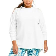 Ideology Womens White Yoga Fitness Workout T-Shirt Athletic Plus 2X BHFO 2627
