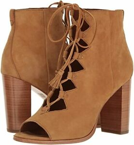 FRYE-Gabby-Ghillie-Lace-Up-Bootie-Cashew-Suede-Leather-Size-9-5-NIB